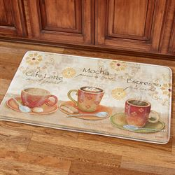 Sunshine Coffee Cushioned Mat Multi Warm 36 x 23