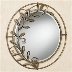 Galeazzo Round Mirror Antique Gold