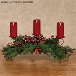 Pine and Berry Holiday Centerpiece Green
