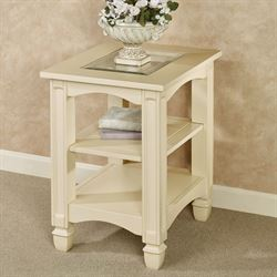 Dover Chairside Table Light Cream