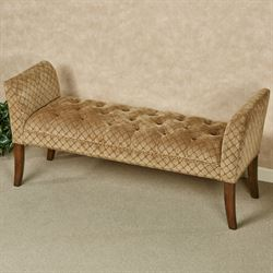 Margaret Upholstered Bench Tan