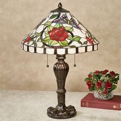 Rose Amour Table Lamp Multi Jewel Each with LED Bulbs