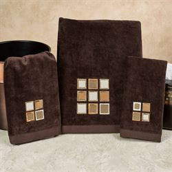 Modena Bath Towel Set Espresso Bath Hand Fingertip