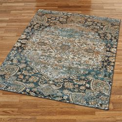 Calidad Rectangle Rug Midnight Blue
