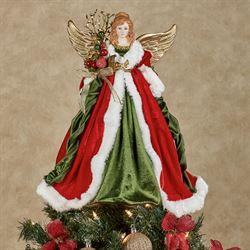 Athena Angel Tree Topper Red
