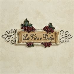 La Vita E Bella Wall Plaque