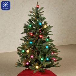 Prelit Christmas Tree Green 4 High