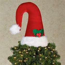 Santa Hat Decorative Accent Red