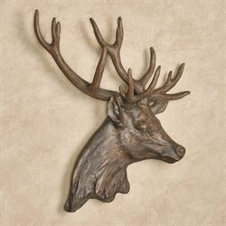 Deer Head Stag Wall Art Brown
