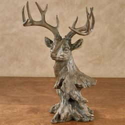 Deer Head Statue Brown