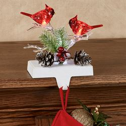 Cardinal LED Stocking Holder Red