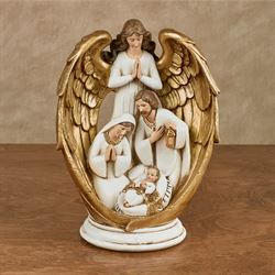 Watchful Angel Figurine Multi Warm