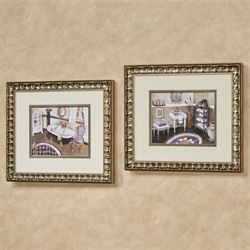 Lavender Retreat Framed Wall Art Multi Cool Set of Two