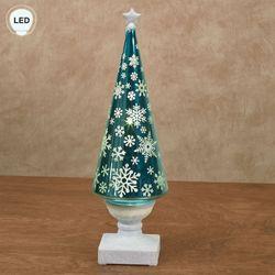 Snowflake Swirl LED Christmas Tree Figurine Multi Cool