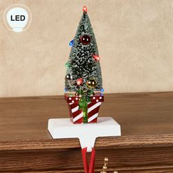 Christmas Tree LED Stocking Holder Multi Warm