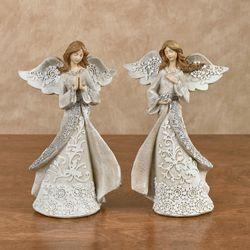 Divine Angel Figurines Ivory 2 Piece Set