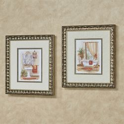 Watercolor in Spice Framed Wall Art Multi Warm Set of Two