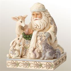 Miracle in the Moonlight Santa Figurine Multi Cool