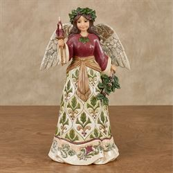 Jolly Holly Days Angel Figurine Multi Warm