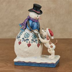 Fetch a Frosty Friend Figurine Multi Warm