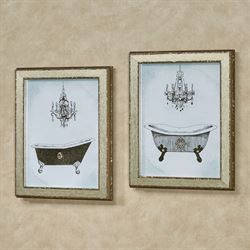 Gilded Bath Framed Wall Art Multi Metallic Set of Two