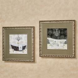 His and Hers Tub Framed Wall Art Multi Warm Set of Two