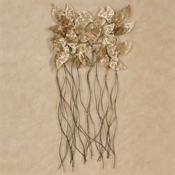 Sculptured Leaves Wall Art Multi Metallic