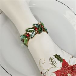 Holiday Jewels Napkin Rings Multi Warm Set of Four