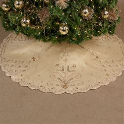 Touch of Grandeur Tree Skirt Gold