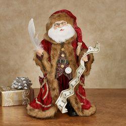 Kringle Wish List Santa Figure Burgundy