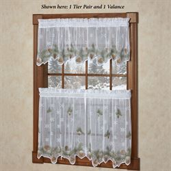 Rustic Pines Lace Tier Pair White
