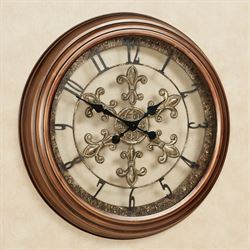 La Chartres Wall Clock Antique Bronze