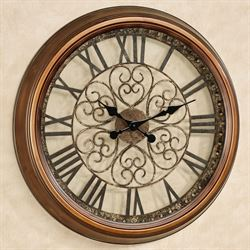 Cassia Wall Clock Antique Bronze