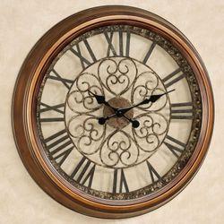 Cassia Wall Clock Antique Bronze