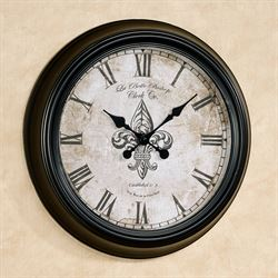 Ambronay Wall Clock Black