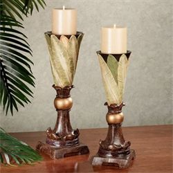 Island Memories Candleholder Set Green Set of Two