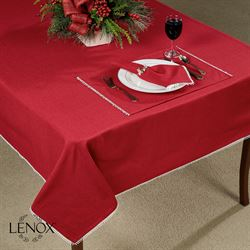 Lenox French Perle Solid Tablecloth Scarlet