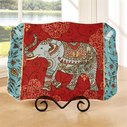 Spice Route Elephant Serving Platter Multi Jewel