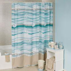 Seaview Shower Curtain Sand 72 X 72