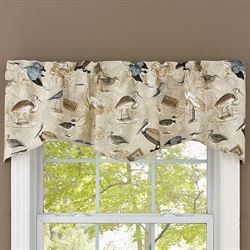 Marshland Shaped Valance Multi Earth 58 x 18