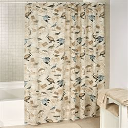 Marshland Shower Curtain Multi Earth
