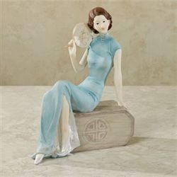 Shanghai Lady Figurine Aqua
