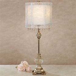 Charlesia Table Lamp Champagne Gold Each with LED Bulb