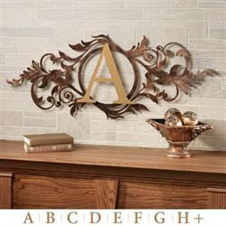 Meglynn Horizontal Wall Art Sign Gold/Bronze