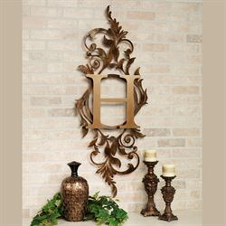 Meglynn Vertical Wall Art Sign Gold/Bronze