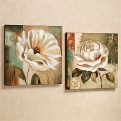 Garden Delicacies Canvas Art Set Cream Set of Two