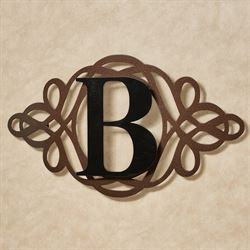 Avley Monogram Wall Art Sign Copper/Black