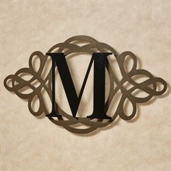 Avley Monogram Wall Art Sign Gold/Black