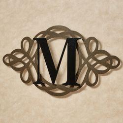 Avley Monogram Wall Art Sign Gold/Black