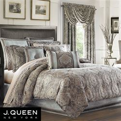 Provence Scroll Comforter Set Beige